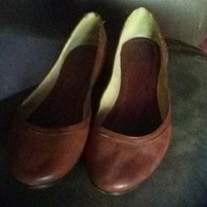 Frye Shoes - Frye Brown Leather Flats